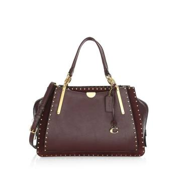 Dreamer Rivet Trim Leather Top Handle Bag