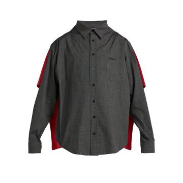 Double-layered convertible shirt