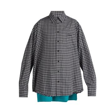 Double-layer cotton shirt
