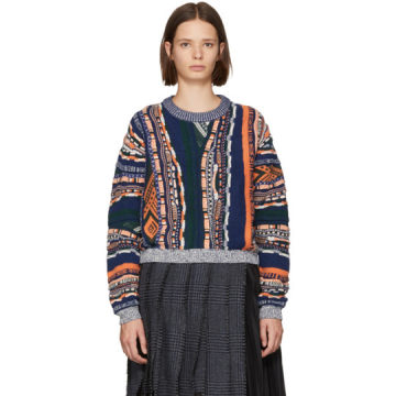 Multicolor Mixed Weave Sweater
