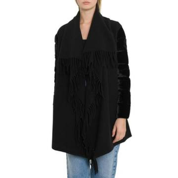 Moncler Velvet Sleeves Cape