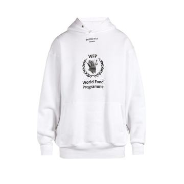 WFP print hooded sweatshirt