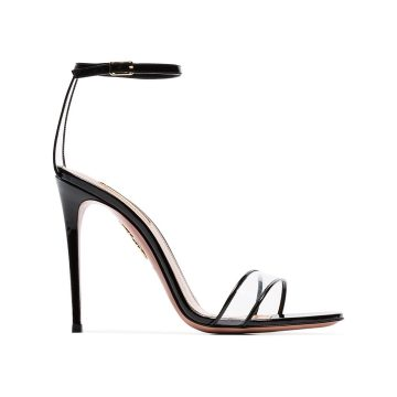 black minimalist 105 patent PVC pumps