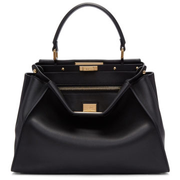 Black Regular Peekaboo Bag