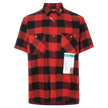 check shirt with back layer