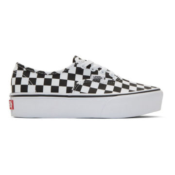 黑色 & 白色 Checkerboard UA Authentic 2.0 防水台运动鞋
