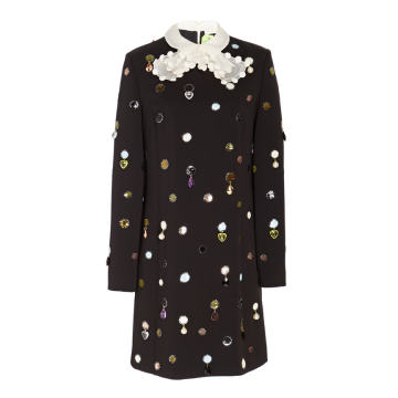 Jewel Embroidered Shift Dress