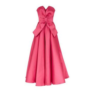 Strapless Bow Front Dress