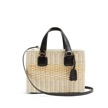 Manray small wicker basket bag