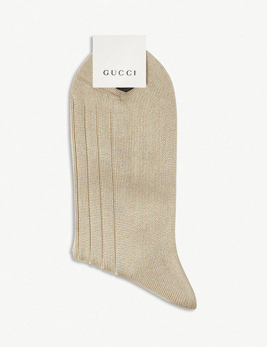 innovative design 7e0bf 87b00 蜂绣羊毛混纺袜  Gucci - idollook