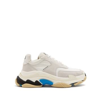 Triple S low-top suede trainers