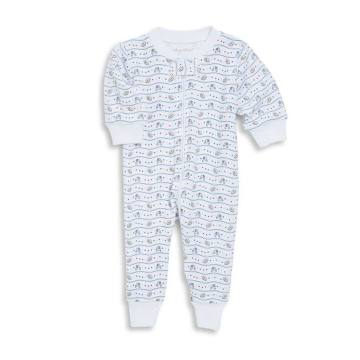 Baby Boy's First Down Football Print Cotton Coverall