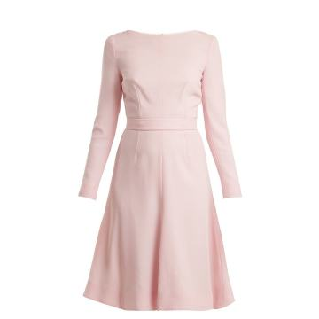 Kate A-line wool-crepe dress