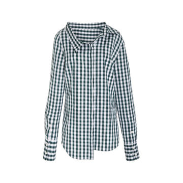 Gingham Double Collar Shirt