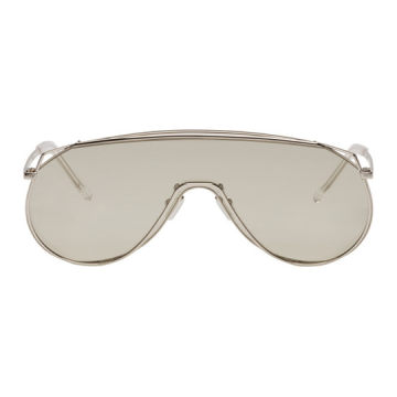 Silver Afix Shield Sunglasses