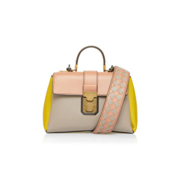 Multicolor Piazza Leather Top Handle Bag