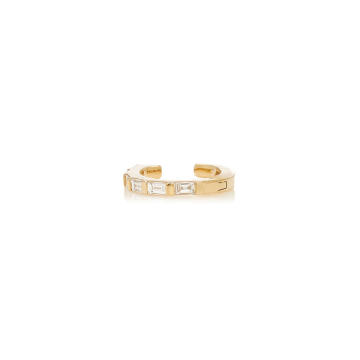 14K Yellow-Gold Diamond Baguette Earcuff