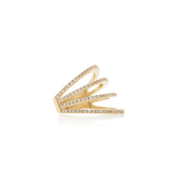 14K Gold Diamond Single Ear Cuff