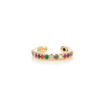 14k Single Rainbow Ear Cuff
